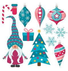 Beautiful flat design christmas collection vector