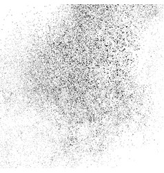 Black grainy texture isolated on white background vector