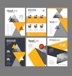 Brochure layot set vector