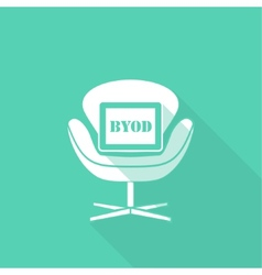 BYOD flat long shadow design vector