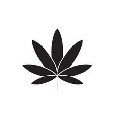 cannabis black concept icon cannabis flat vector image