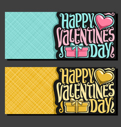 Cards for st valentines day vector