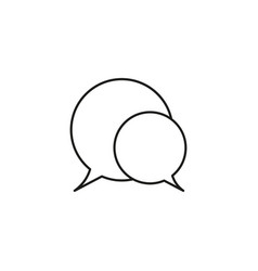 chat bubbles icon vector image