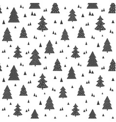 christams scandinavian seamless pattern vector image