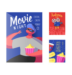 cinema movie poster banner placard template vector image