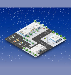City winter landscape vector