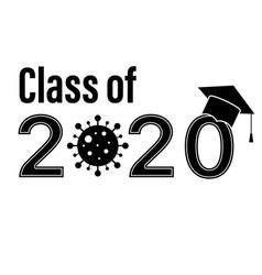 Class 2020 graduate school graduation coronavirus vector