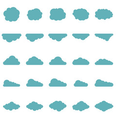 clouds set in flat style vector image