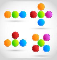 colorful circles dots circle elements bright vector image