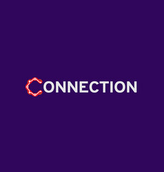 connection typography text design symbol logo vector image