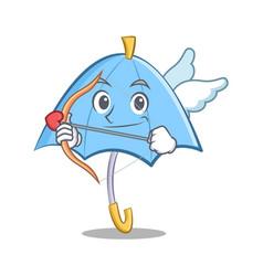 Cupid blue umbrella character cartoon vector