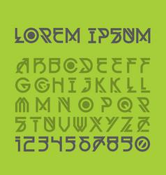 decorative futuristic modern alphabet vector image