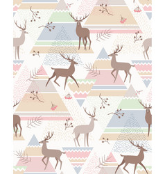 deers abstract pattern vector image