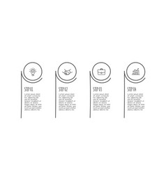doodle infographic circle elements with 4 options vector image