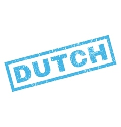 Dutch rubber stamp vector