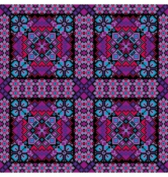 Ethnic mosaic ornamental background vector