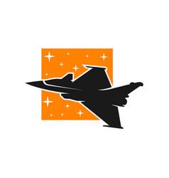 fighter plane maneuver logo vector image