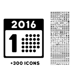 First 2016 Day Icon vector