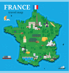 france map for traveler with local tourist vector image
