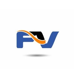 FV company linked letter logo vector