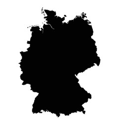 germany map outline vector image
