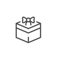 gift line icon vector image