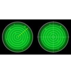 Glowing Radar Screen with Luminous Targets vector image
