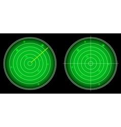 Glowing Radar Screen with Luminous Targets vector