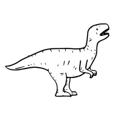 hand drawn doodle t rex vector image