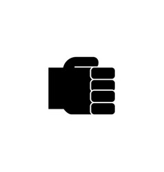 hand fist simple holding hand icon vector image