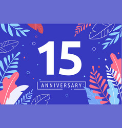 Happy anniversary - fantasy leaves background with vector