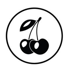 icon of cherry vector image