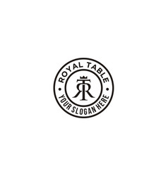 initial letter t r logo design inspiration vector image