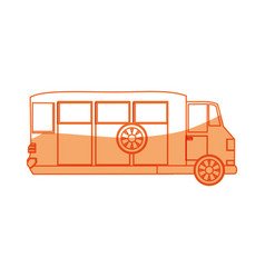 Isolated big bus car vector