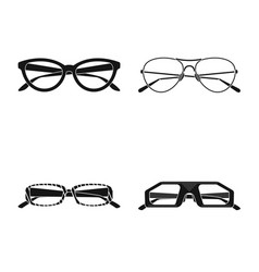 isolated object of glasses and sunglasses icon vector image