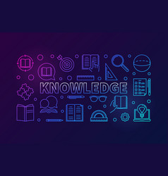 knowledge colored line horizontal vector image
