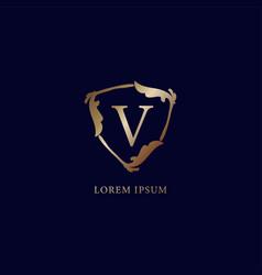 Letter v alphabetic logo design template isolated vector
