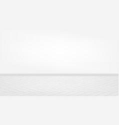 Livingroom interior clean wall with grey floor vector