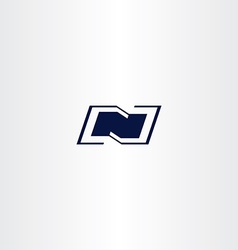 logo n dark blue letter n icon vector image