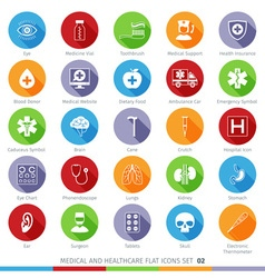 Medical Icons Set 02F vector image vector image