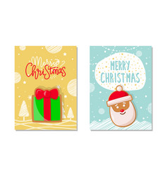 merry christmas winter holiday celebration poster vector image