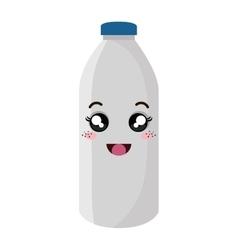 milk bottle kawaii style vector image