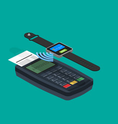 Mobile payments concept infographics presentation vector