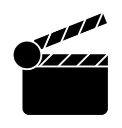 Movie clapper solid icon clapperboard vector