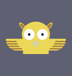 Owl - icon design on background vector