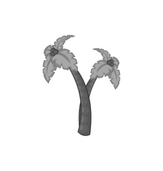Palm trees icon black monochrome style vector