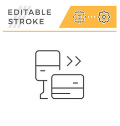 parking payment editable stroke line icon vector image