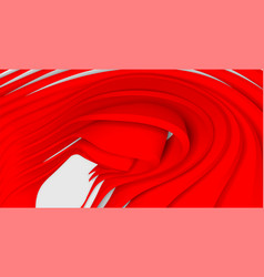 Red wave on a white background abstract minimal vector
