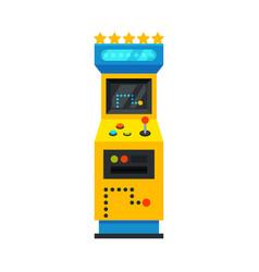 Retro arcade game machine gaming machinery vector