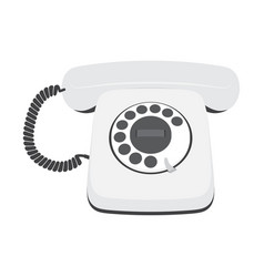 retro telephone isolated on a white background vector image